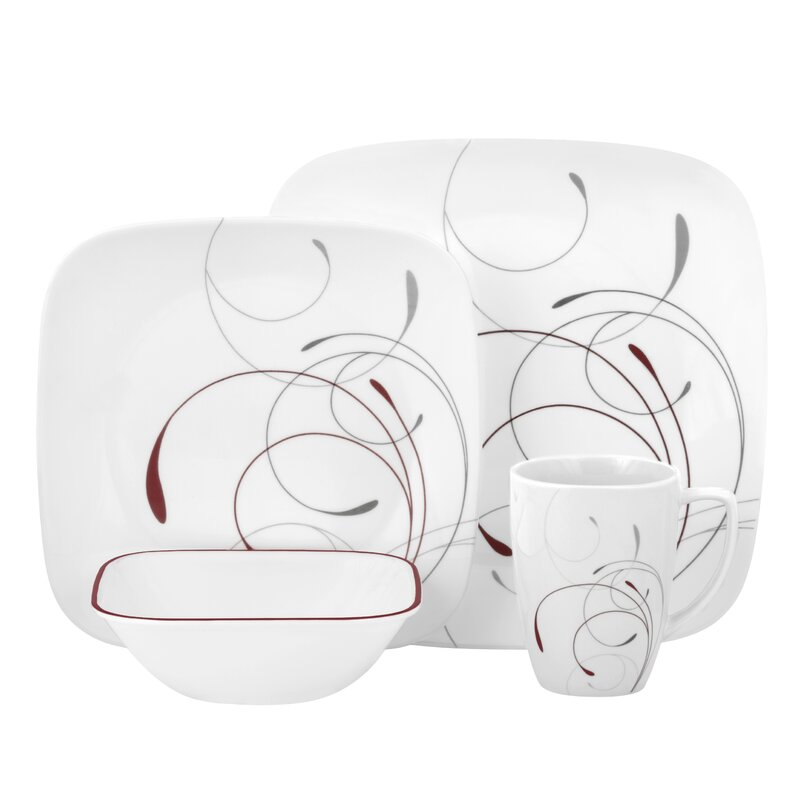 Splendor 16 Piece Dinnerware Set Service for 4  sc 1 st  Wayfair & Corelle Splendor 16 Piece Dinnerware Set Service for 4 \u0026 Reviews ...
