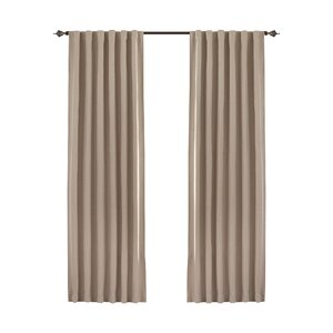 Wedgeport Solid Blackout Thermal Rod Pocket Single Curtain Panel