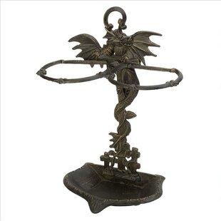 Wyvern Dragon Iron Walking Umbrella Stand by Design Toscano