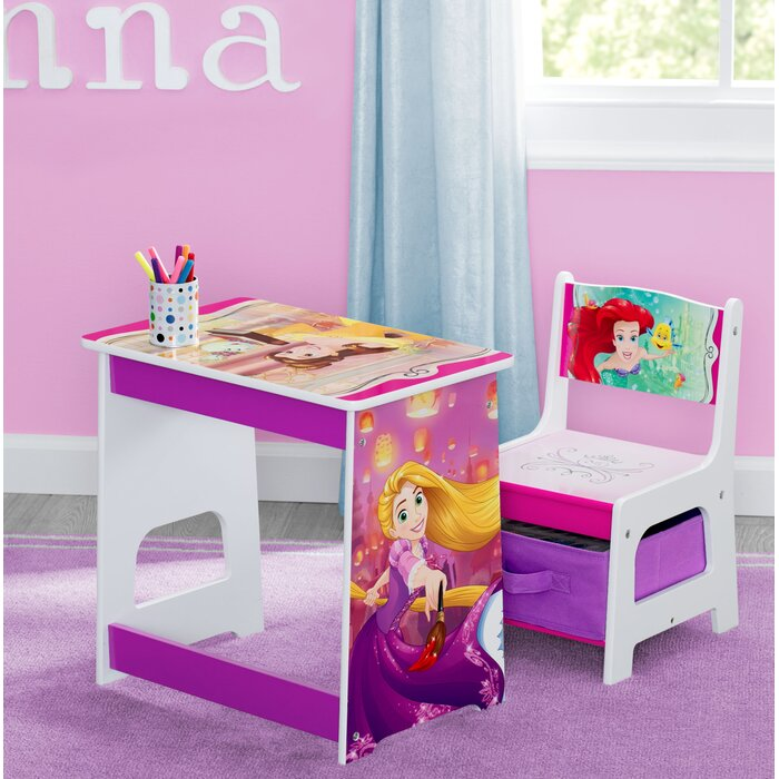 Magnificent Disney Princess Kids 2 Piece Activity Table And Chair Set Dailytribune Chair Design For Home Dailytribuneorg