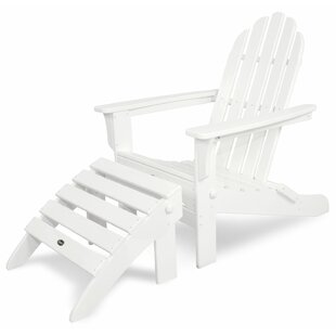 Trex Outdoor Cape Cod Plastic Folding Adirondack Chair