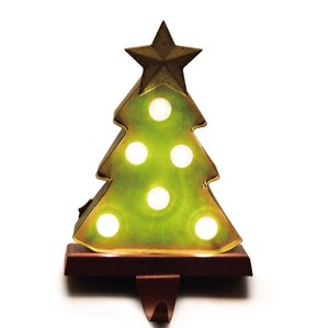 Battery Operated Marquee LED Lighted Christmas Tree Stocking Holder