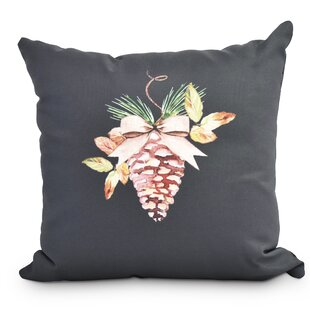 Welliver Natural Ornament Holiday Outdoor Throw Pillow