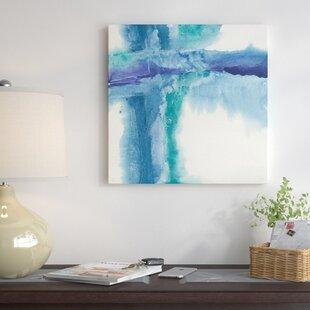 jewel tone wall art wayfairjewel tones i painting print on wrapped canvas