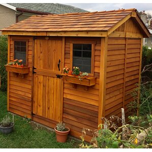 cabana 9 ft 9 in w x 7 ft 5 in d - Garden Sheds Wooden