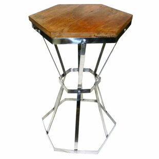 Blaize Octagonal Steel and Wooden End Table by Gracie Oaks
