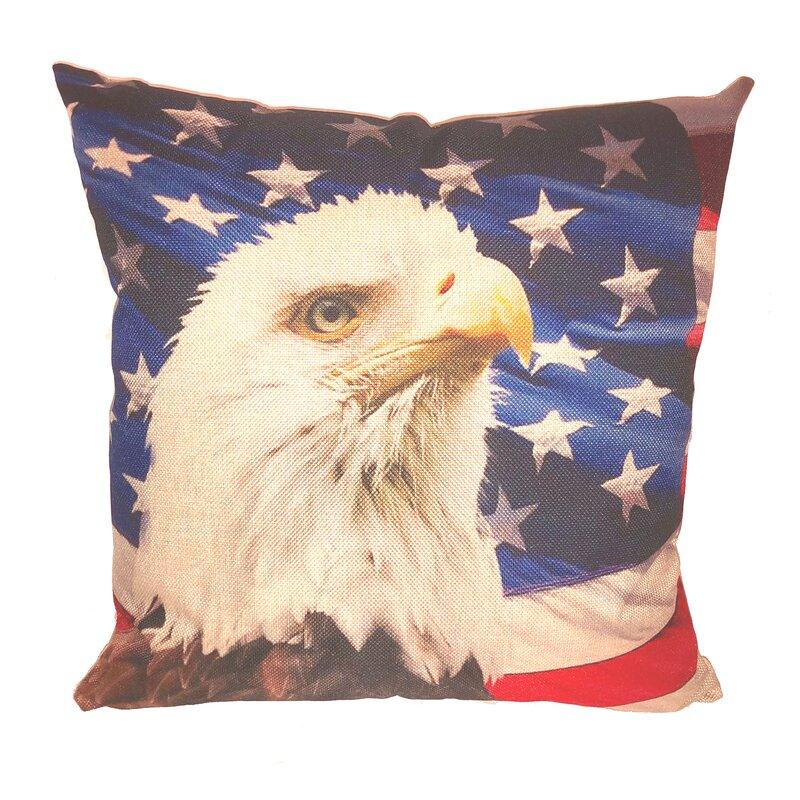 August Grove American Eagle Throw Pillow Wayfair