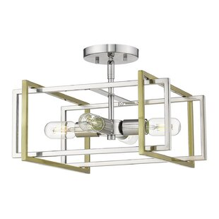 Zoraida 4-Light Semi Flush Mou..