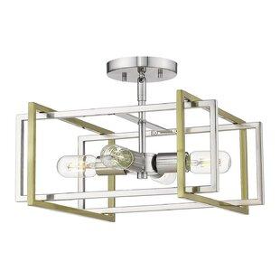 Zoraida 4-Light Semi Flush Mount by Wrought Studio