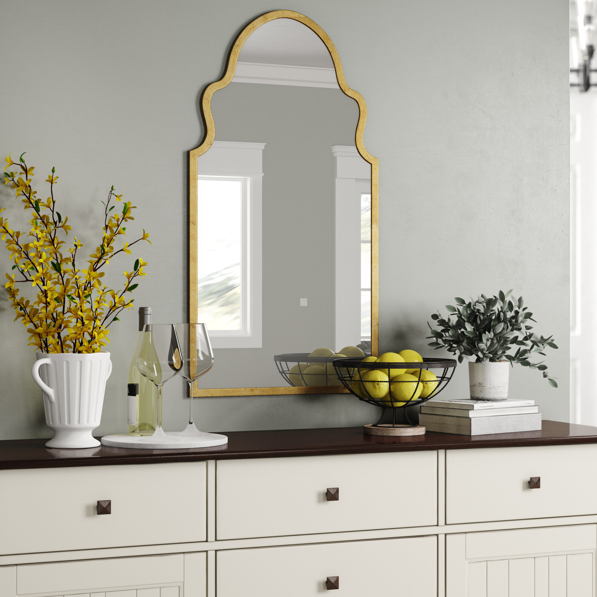 Gold Wall Mirrors Free Shipping Over 35 Wayfair
