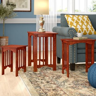 Peru 3 Piece Nesting Table Set by Charlton Home