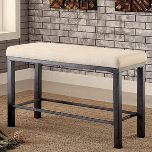17 Stories Carolos Industrial Wood Bench