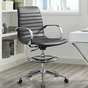 Orren Ellis Gwaltney Ribbed Back Ergonomic Drafting Chair