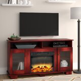 Ackermanville TV Stand for TVs up to 65 with Fireplace Included by Red Barrel Studio®