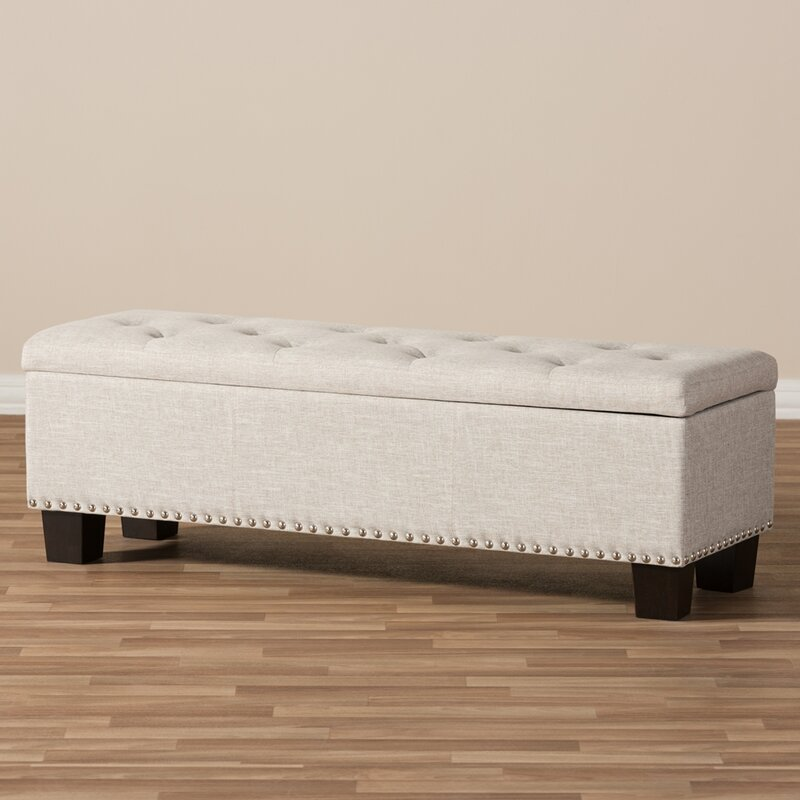 Charmant Back Bay Upholstered Storage Bench