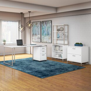 Kathy Ireland Office by Bush Method 4 Piece Rectangular Desk Office Suite