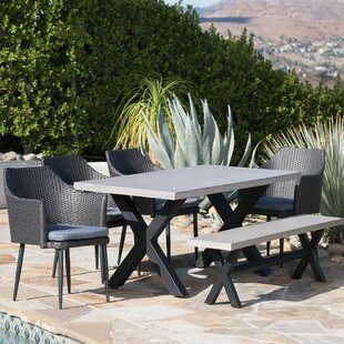 Red Barrel Studio Durden Outdoor 6 Piece Dining Set with Cushions