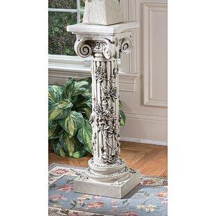 Budget The Rose Garland Pedestal Plant Stand ByDesign Toscano