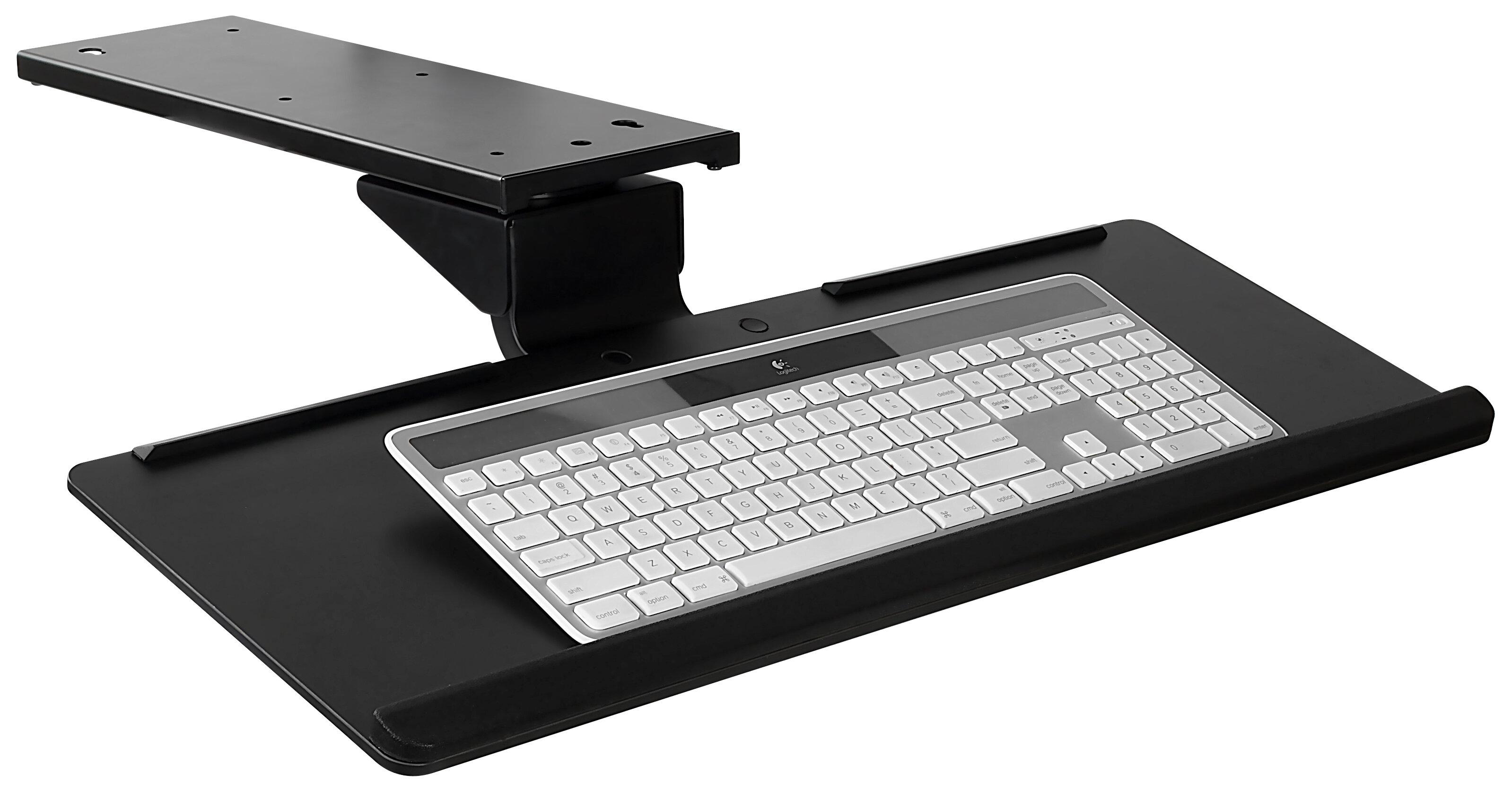 symple stuff birdsall under 18 h x 26 w desk keyboard tray w