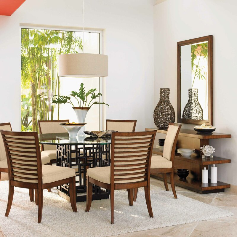 tommy bahama home ocean club 9 piece dining set & reviews | wayfair