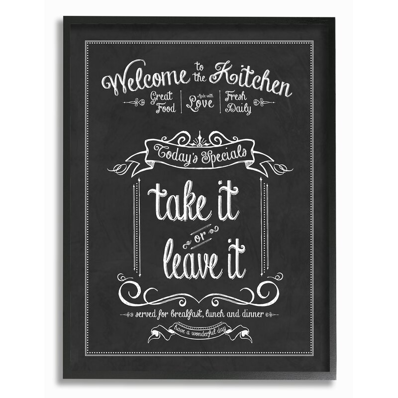 Genial Welcome To The Kitchen Chalkboardu0027 Textual Art