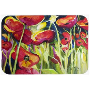 Poppies Glass Cutting Board