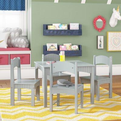 Terrific Viv Rae Lourdes Kids 3 Piece Writing Table And Chair Set Machost Co Dining Chair Design Ideas Machostcouk