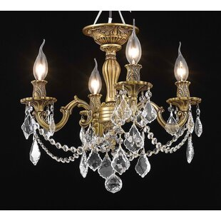 Astoria Grand Utica 4-Light Candle Style Chandelier