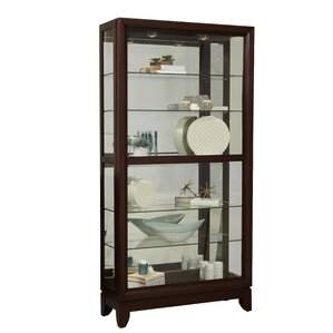Lighted Curio Cabinet by Darby Home Co