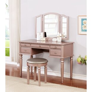 House of Hampton Brookland Vanity Set with Mirror
