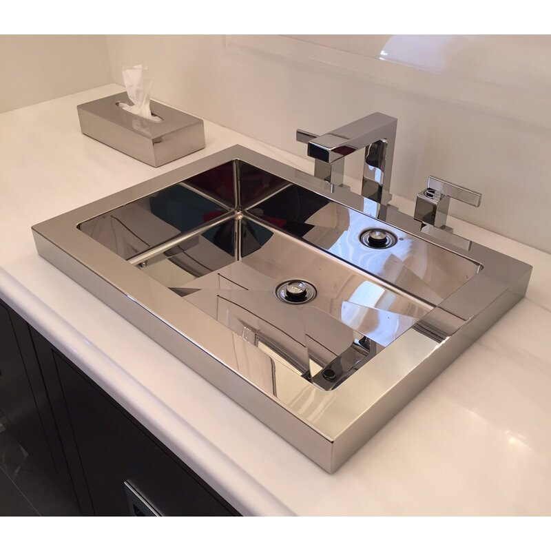Metal Stainless Steel Rectangular Vessel Sink