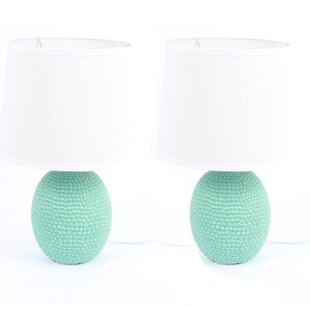 Textured Ceramic 12 Table Lamp (Set of 2)