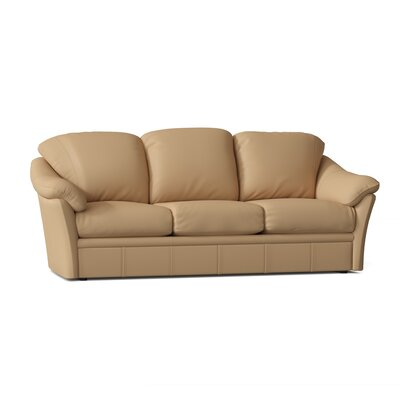 "Salerno 80"""" Pillow Top Arm Sofa Omnia Leather Body Fabric: Softsations Swiss Coffee, Seat Cushion Fill: Standard Cushion Fill, Mattress Type: No Mattr -  Salerno 3 Seat SofaSoftsations Swiss CoffeeStandardNo Sleeper"