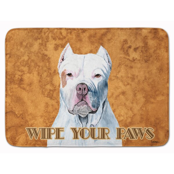 East Urban Home Pit Bull Wipe Your Paws Rectangle Microfiber Non Slip Animal Print Bath Rug Wayfair