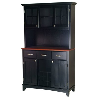 Bunny China Cabinet Top Material: Cherry Wood, Color: Black by Andover Mills
