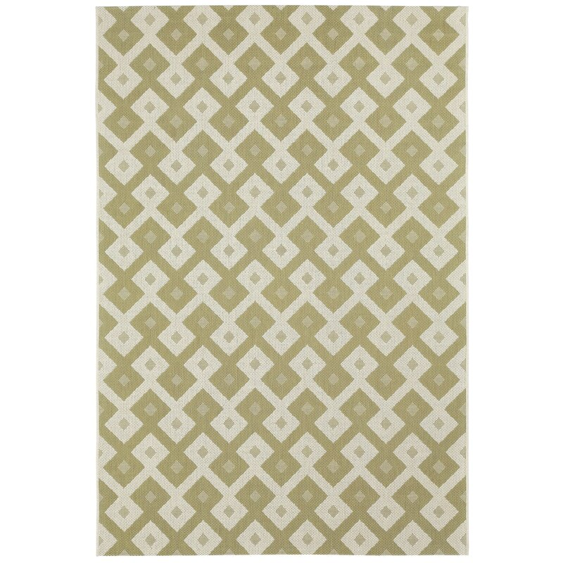 Malle Pistachio Green Diamond Indoor/Outdoor Area Rug