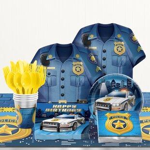 81 Piece Police Birthday Party Supplies Set