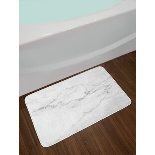 Artsy Gray Dust Marble Bath Rug