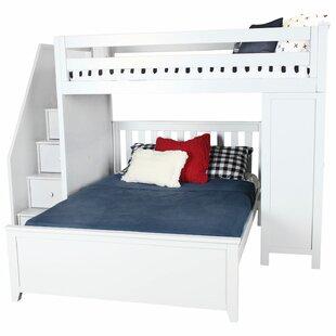 Zoomie Kids Alvarez Staircase Combo Twin Over Full Loft Bed