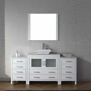 Cartagena 72 Single Bathroom Vanity Set with Mirror By Mercury Row
