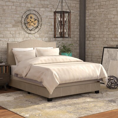 Nauvoo Upholstered Bed Size: Queen, Color: Sand Beige Denim