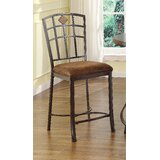 Brzozowski Upholstered Slat Back Side Chair in Brown (Set of 2) by Red Barrel Studio®