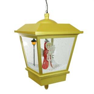 Northlight Seasonal Snowing Angel Hanging Christmas Musical Street Lamp