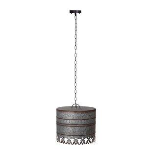 Rayne Iron Round Ceiling 1-Light Drum Pendant by Gracie Oaks