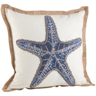 Neptunian Star Fish Cotton Throw Pillow
