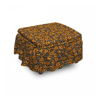 Butterfly Wing Ottoman Slipcover (Set Of 2) By East Urban Home
