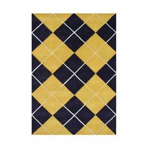 Roy Hand-Tufted Black/Gold Area Rug