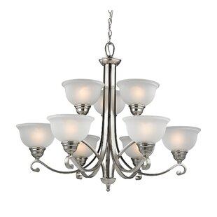 Darby Home Co Halvorsen 9-Light Shaded Chandelier