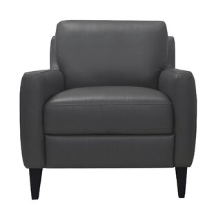 Brayden Studio Chaney Genuine Leather Armchair