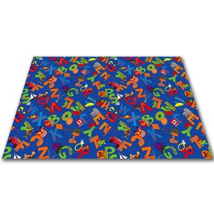 I Know My ABC's Children's Bluei Area Rug ByKid Carpet